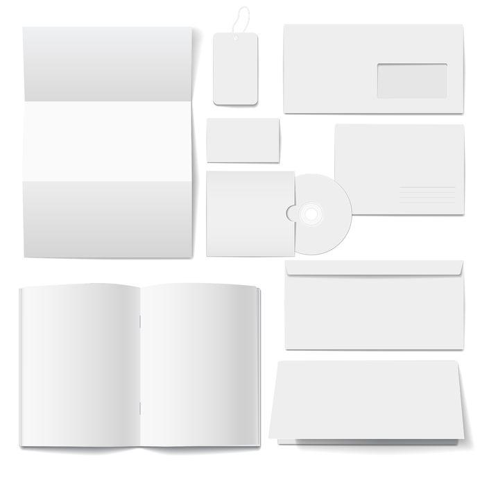 17958764 - corporate  identity templates  selected blank