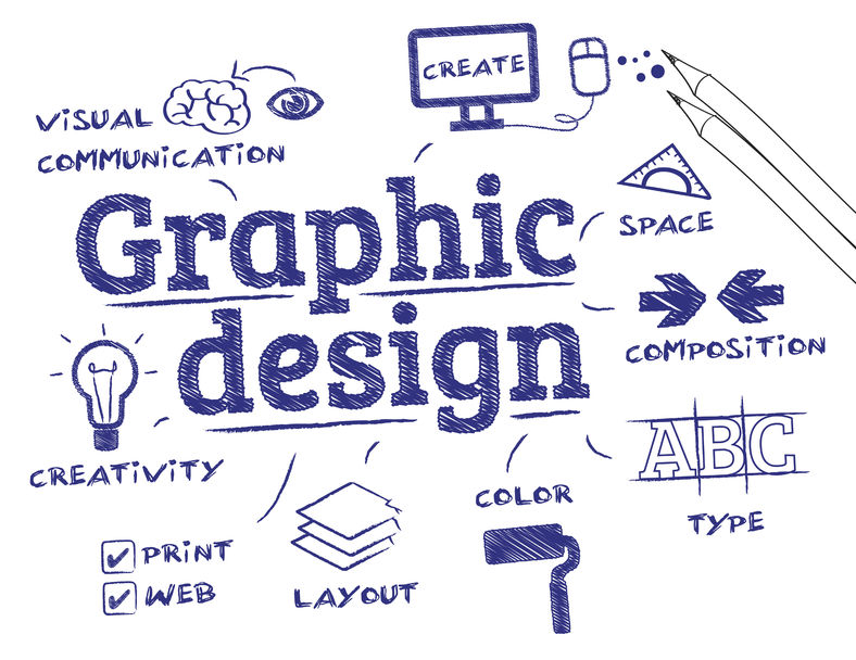 51465205 - graphic design. chart with keywords and icons