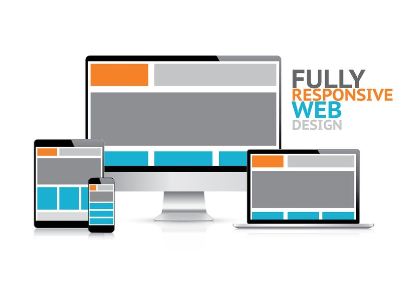 20821892 - responsive web design concept in electronic devices