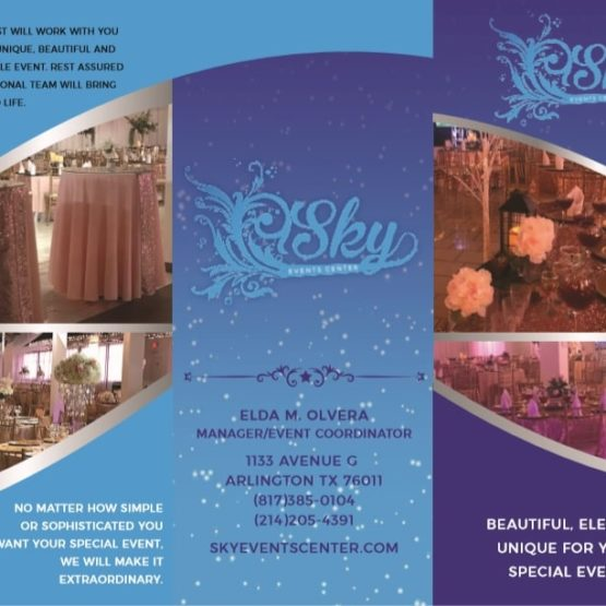 Sky Event Center - Tri Fold Brochure