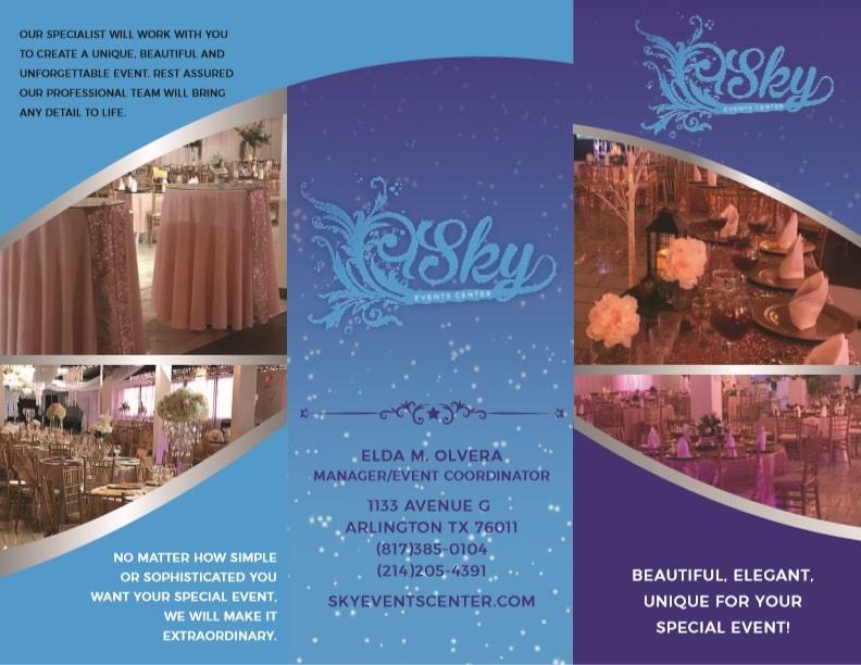 Sky Event Center - Tri Fold Brochure